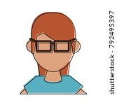 geek woman avatar | Shutterstock .eps vector #792495397