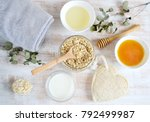 natural ingredients for... | Shutterstock . vector #792499987