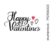 happy valentine's hand drawn... | Shutterstock .eps vector #792506323