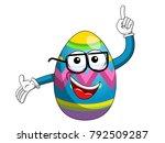 decorated mascot easter egg... | Shutterstock .eps vector #792509287