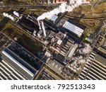 Aerial View Of Steelworks In...
