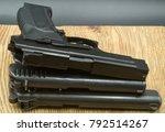 pistols  self defense weapons | Shutterstock . vector #792514267