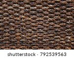 dark brown vintage fabric with... | Shutterstock . vector #792539563