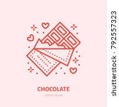 chocolate bar illustration.... | Shutterstock .eps vector #792557323