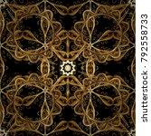 seamless golden texture curls.... | Shutterstock .eps vector #792558733