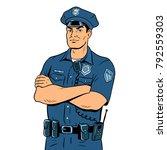 policeman pop art retro vector... | Shutterstock .eps vector #792559303