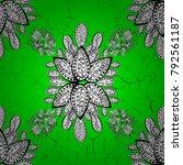 antique green repeatable... | Shutterstock .eps vector #792561187