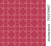 red and pale pink geometric... | Shutterstock .eps vector #792570907