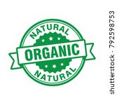 organic natural badge stamp | Shutterstock .eps vector #792598753