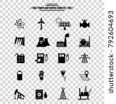 power and energy icons set. | Shutterstock .eps vector #792604693