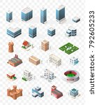 set of isometric high quality... | Shutterstock .eps vector #792605233