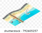 set of isolated high quality... | Shutterstock .eps vector #792605257