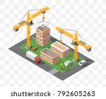 set of isolated high quality... | Shutterstock .eps vector #792605263