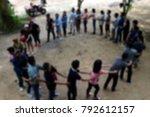 blur activity camp employee... | Shutterstock . vector #792612157