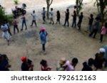 blur activity camp employee... | Shutterstock . vector #792612163
