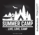 summer camp badge on the... | Shutterstock .eps vector #792612277
