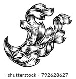 a scroll floral pattern... | Shutterstock .eps vector #792628627