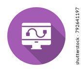 bezier design monitor  | Shutterstock .eps vector #792641197