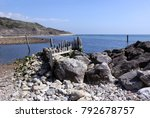 reeth bay on the isle of wight | Shutterstock . vector #792678757