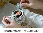 japanese hand painted ceramic...   Shutterstock . vector #792681937