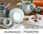 japanese hand painted ceramic...   Shutterstock . vector #792681943