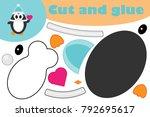 penguin cartoon style ... | Shutterstock .eps vector #792695617