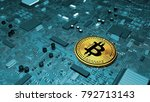 bitcoin  crypto currency ... | Shutterstock . vector #792713143