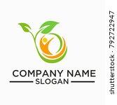 health logo and vector template ... | Shutterstock .eps vector #792722947