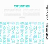 vaccination concept with thin... | Shutterstock .eps vector #792728563