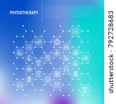 physiotherapy concept in... | Shutterstock .eps vector #792728683