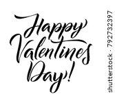 happy valentines day black... | Shutterstock .eps vector #792732397