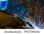 welder  craftsman  erecting... | Shutterstock . vector #792739243