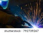 welder  craftsman  erecting... | Shutterstock . vector #792739267