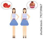 diet. choice of girls favorite... | Shutterstock .eps vector #792739867