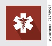 medical symbol flat icon with...   Shutterstock .eps vector #792759037