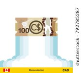 canadian dollar rising as a... | Shutterstock .eps vector #792785287