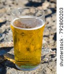 a cold pint of refreshing beer... | Shutterstock . vector #792800203