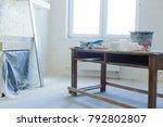 apartment repair wall repair... | Shutterstock . vector #792802807