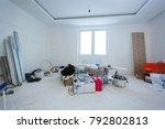 apartment repair wall repair... | Shutterstock . vector #792802813