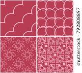 geometric patterns. set of pale ... | Shutterstock .eps vector #792808897