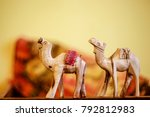 A Pair Of Wooden Toy Camel On ...