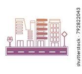 city buildings design  | Shutterstock .eps vector #792822043
