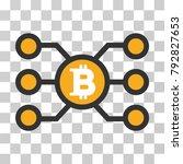 bitcoin node links vector... | Shutterstock .eps vector #792827653