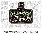 food poster print lettering....   Shutterstock .eps vector #792843073