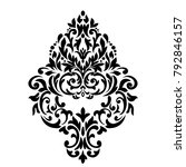oriental pattern with damask ... | Shutterstock .eps vector #792846157