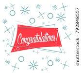 congratulations  beautiful... | Shutterstock .eps vector #792848557
