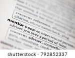 close up to the dictionary... | Shutterstock . vector #792852337