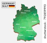 germany polygon map  3d map ... | Shutterstock .eps vector #792859993