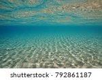 sand underwater below sea... | Shutterstock . vector #792861187