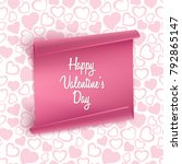valentines day card background... | Shutterstock .eps vector #792865147